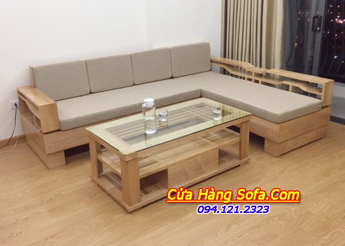 Mẫu ghế sofa gỗ hiện đại cho phòng khách sang trong SFG016a