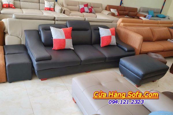 Ghế sofa văng da đẹp cho phòng khách nhỏ SFD100
