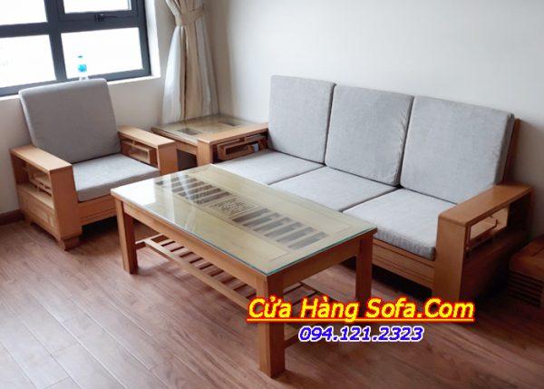 Bộ ghế sofa gỗ phòng khách sang trọng SFG020a