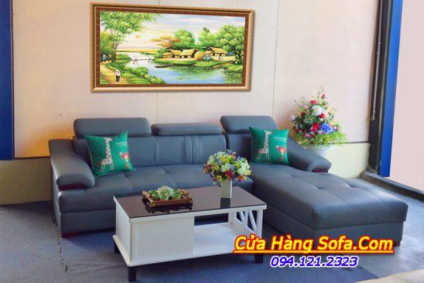 Ghế sofa da hiện đại dang góc chữ L SFD160