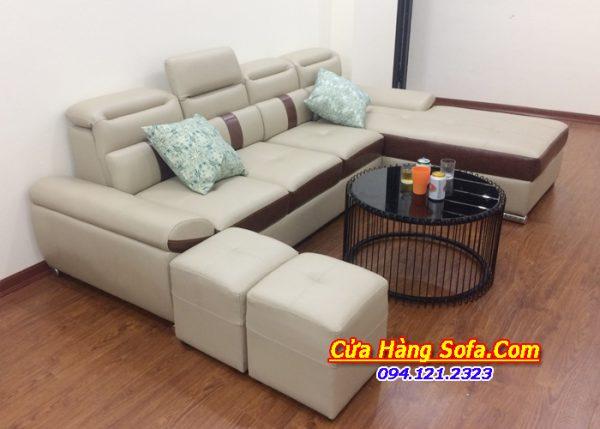 Mẫu ghế sofa góc cho phòng khách đẹp SFD153