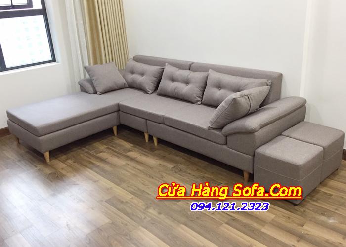 Ghế sofa góc nỉ hiện đại SFD162 cho phòng khách chung cư