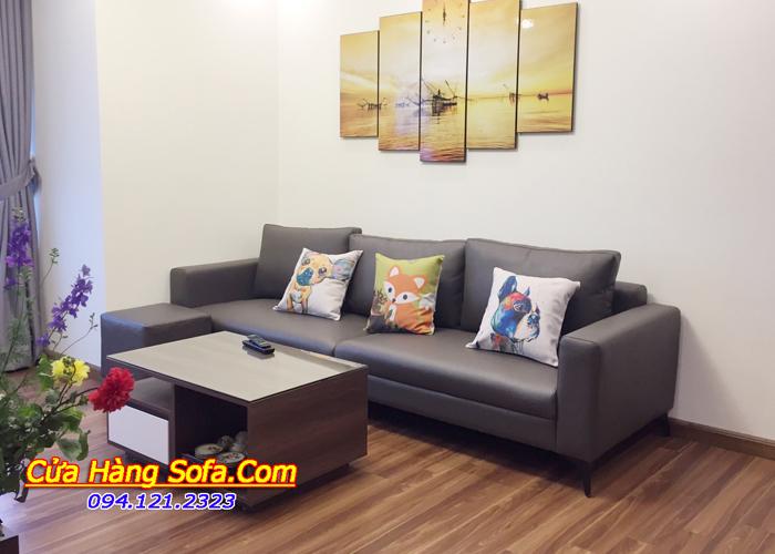 Bộ ghế sofa văng da hiện đại cho phòng khách đẹp