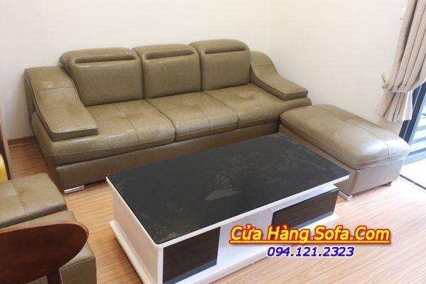 Bộ ghế sofa văng da 3 chỗ ngồi hiện đại. Với tựa lưng được thiết kế gật gù hiện đại sang trọng cho phòng khách nhà bạn