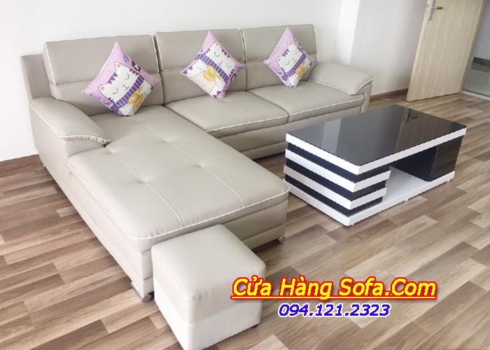Mẫu ghế sofa da giá rẻ cho phòng khách SFD152