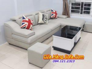 Bộ ghế sofa da góc chữ L sang trọng SFD097
