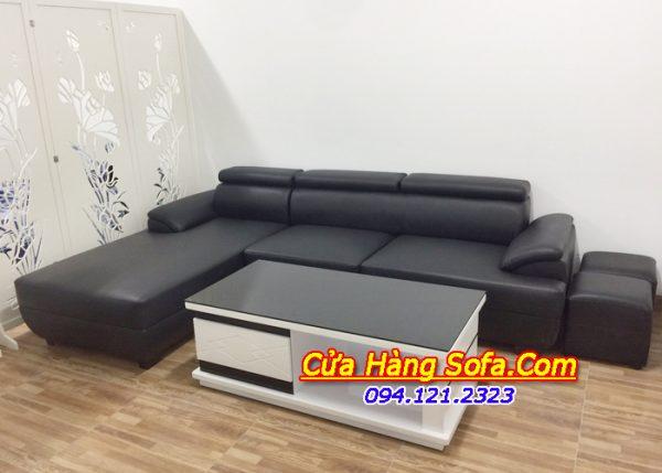 Mẫu ghế sofa da phòng khách hiện đại SFD093
