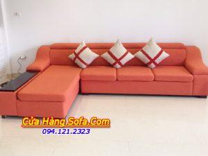 Ghế sofa góc nỉ được thiết kế gật gù sang trọng SFN092