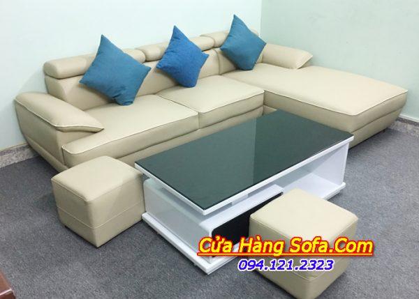 Ghế sofa giả da có giá thành thấp phù hợp với thu nhập của đại đa số mọi người tại Hà Nội
