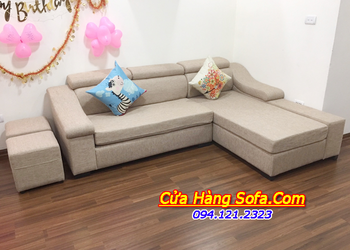 Mẫu ghế sofa nỉ phòng khách đẹp SFN098