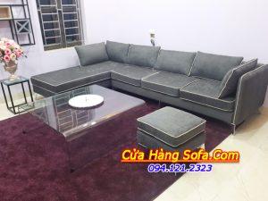 Mẫu ghế sofa phòng khách chất liệu vỏ bọc bằng nỉ hiện đại sang trọng