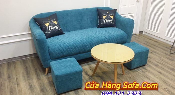 Mẫu sofa văng nỉ kích thước nhỏ hiện đại SFN181