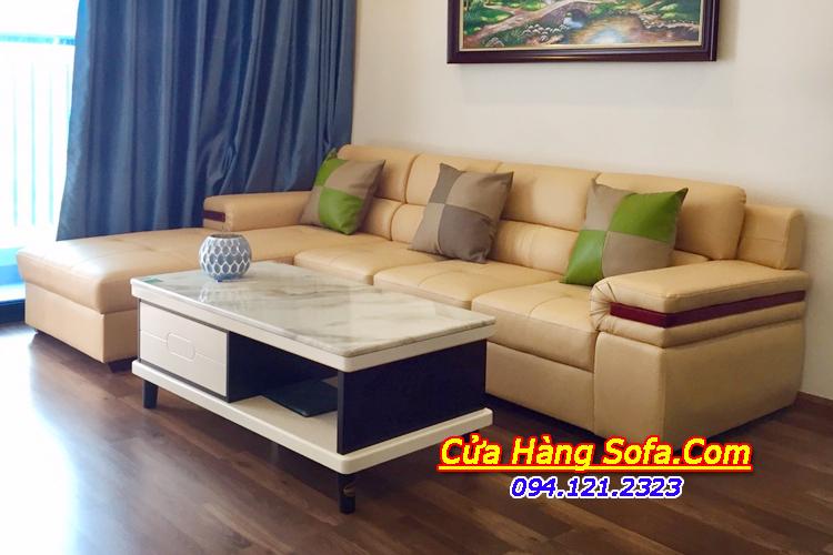 Mẫu ghế sofa góc L kích thước 2m6x1m7 cho phòng khách nhỏ dưới 20m2