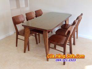 Bộ bàn ăn 6 ghế Mango hiện đại AmiA BA037