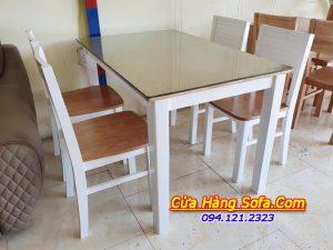 Bộ bàn ăn 4 ghế Cherry gỗ sồi cao cấp AmiA BA021