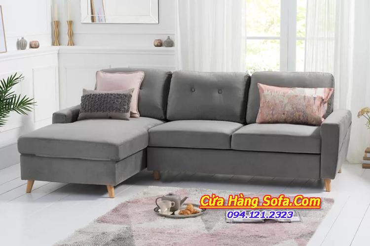 Bộ bàn ghế phòng khách chung cư SFN151957. Với kiểu dáng chữ L hiện đại cho phòng khách