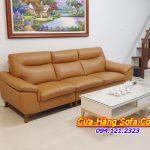 Ghế sofa văng kích thước nhỏ cho phòng khách. Với gam màu da bò sang trọng rất được ưa chuộng hiện nay