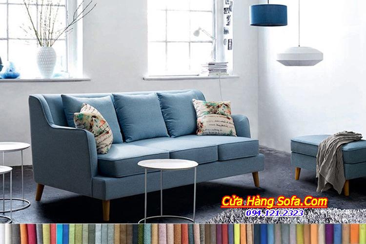 Mẫu ghế sofa văng nỉ phòng khách đẹp SFN151989. Với gam màu xanh nõn chuối rất bắt mắt độc đáo. Bạn có thể thay đổi màu sắc theo bảng màu tùy ý muốn của quý khách