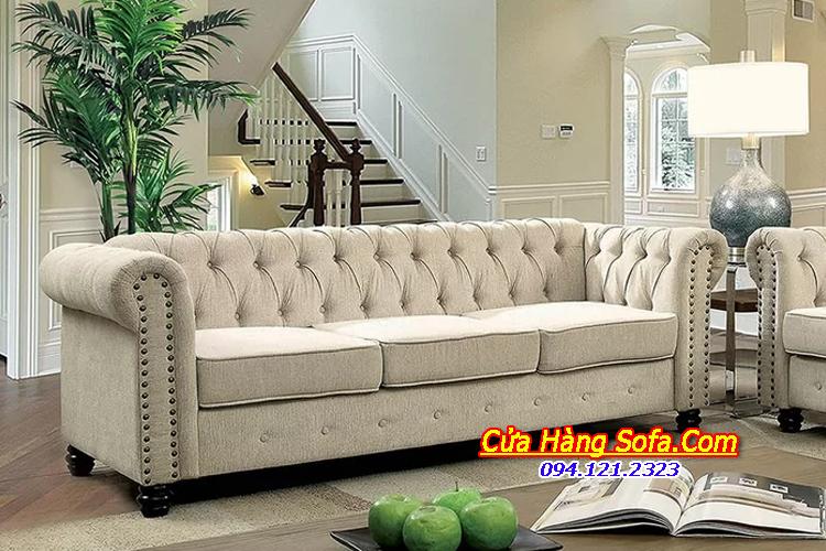 Mẫu ghế sofa văng nỉ tân cổ điển sang trọng SFN151203