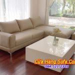 Hình ảnh mẫu sofa da phòng khách cao cấp được chụp nhà khách hàng