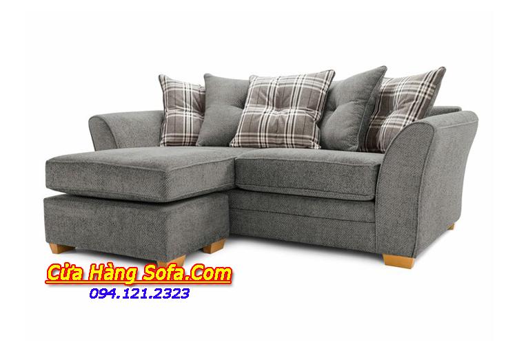 Mẫu sofa nỉ góc kích thước nhỏ nhắn cho phòng khách chung cư mini