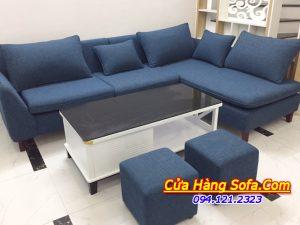 Mẫu ghế sofa nỉ rất được ưa chuộng được chụp tại Ct2 Thạch Bàn