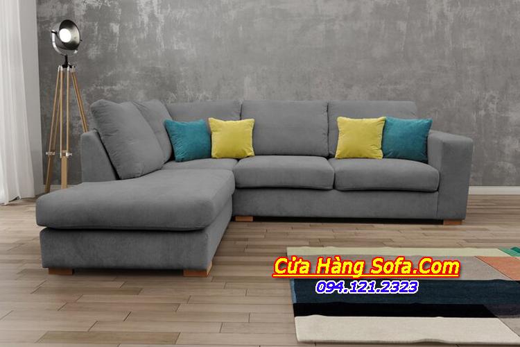 Căn hộ trở nên hiện đại sang trọng hơn với mẫu sofa góc nỉ giá rẻ SFN151890