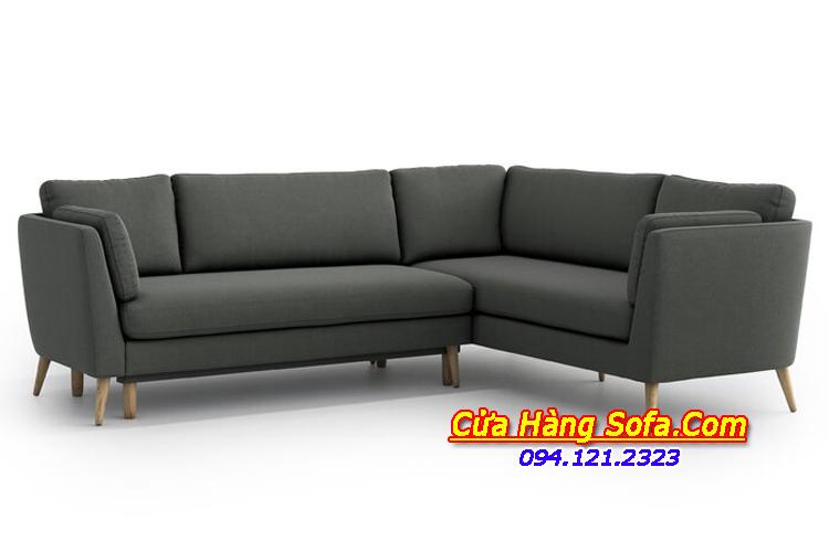 Mẫu ghế sofa góc nỉ sang trọng SFN151873 cho nhà biệt thự lớn