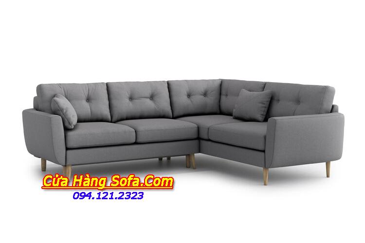 Mẫu ghế sofa nỉ dạng góc quây rộng rãi đang được ưa chuộng sử dụng hiện nay