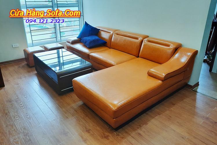 Mẫu ghế sofa góc cho chung cư hiện đại SFD097
