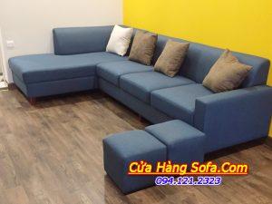 Ghế sofa nỉ góc cho phòng khách hiện đại AmiA SFN 218