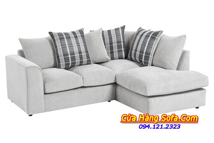 Mẫu ghế sofa góc nỉ mang phong cách hiện đại cho phòng khách