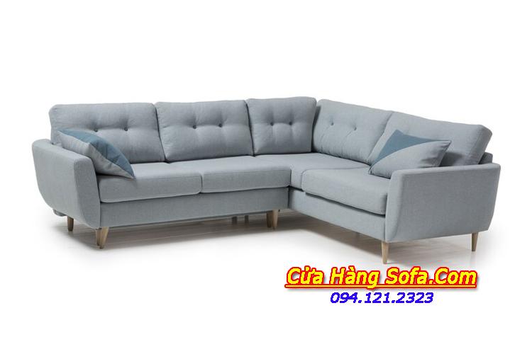 Hình ảnh bộ ghế sofa góc nỉ quây độc đáo SFN151885. Ghế sofa được thiết kế gối dựa rời và may rút khuy tạo điểm nhấn sang trọng