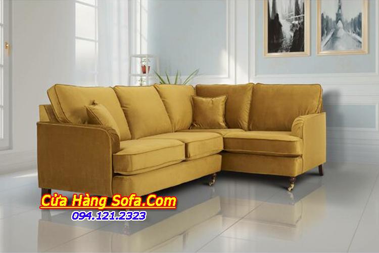 Phòng khách trở lên độc đáo, bắt mắt hơn gam màu vàng của ghế sofa nỉ giá rẻ SFN151897