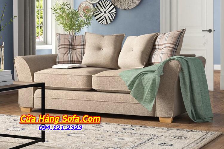 Phòng khách trở lên hiện đại bắt mắt hơn với mẫu sofa văng nhỏ mini này. Được thiết kế tay vát cong tạo điểm nhấn cuốn hút mỗi khi ngắm nhìn ghế sofa