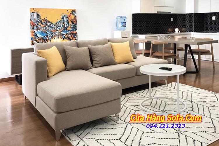 Mẫu ghế sofa căn hộ đẹp với chất liệu nỉ mềm mại SFN151954