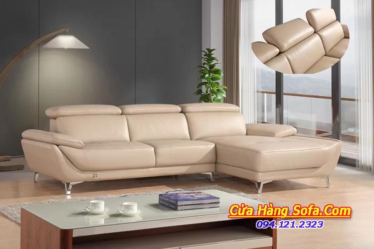 Mẫu ghế sofa góc da hiện đại sang trọng cho phòng khách SFD151961