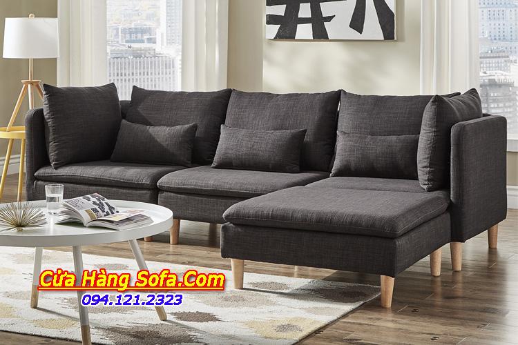 Hình ảnh bộ sofa góc cho phòng khách hiện đại. Ghế sofa được thiết kế gối dựa rời êm ái dễ chịu khi dựa lưng vào