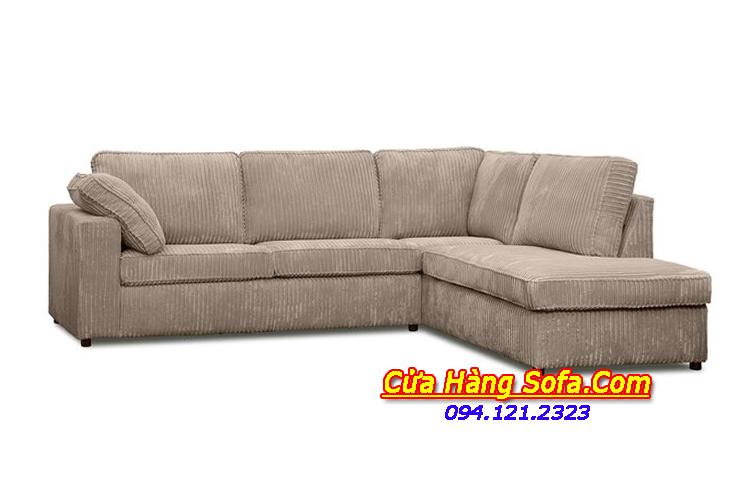 Mẫu ghế sofa phòng khách đẹp được làm bằng chất liệu nỉ hiện đại. Gam màu ghi xám giúp dễ dàng vệ sinh và che đi được những vết bẩn nhỏ trong quá trình sử dụng