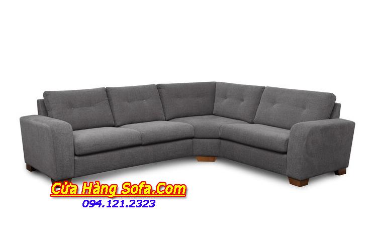Mẫu ghế sofa nỉ có kiểu dáng góc quây rất hiện đại. Bạn có thể nằm nghỉ ngơi thư giãn trên bộ sofa nỉ góc này