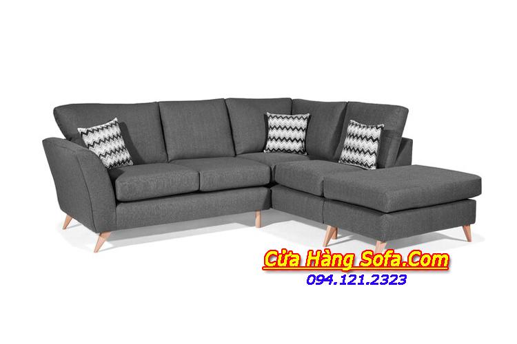 Hình ảnh mẫu ghế sofa góc chữ L được làm bằng chất liệu nỉ cao cấp