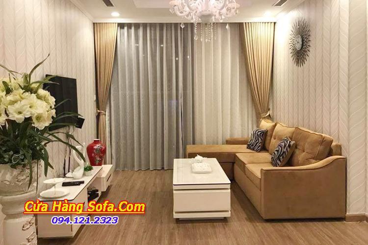 Mẫu ghế sofa phòng khách nhỏ hẹp chạy dài SFN151950