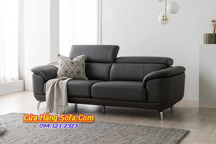 Mẫu ghế sofa văng da cho phòng khách căn hộ hiện đại SFD151976