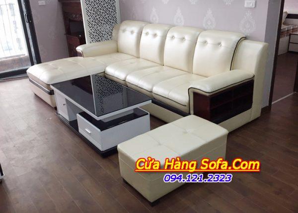 Ghế sofa da cao cấp cho phòng khách đẹp SFD157